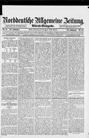 Norddeutsche allgemeine Zeitung vom 12.01.1893