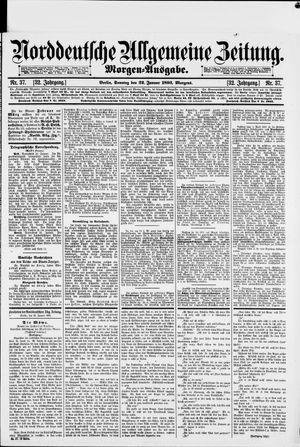 Norddeutsche allgemeine Zeitung vom 22.01.1893