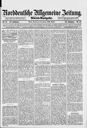 Norddeutsche allgemeine Zeitung vom 24.01.1893