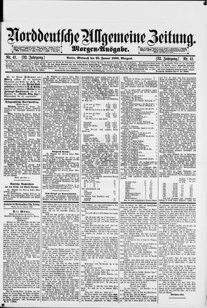 Norddeutsche allgemeine Zeitung vom 25.01.1893