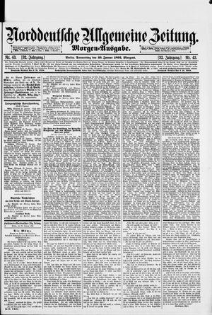 Norddeutsche allgemeine Zeitung vom 26.01.1893