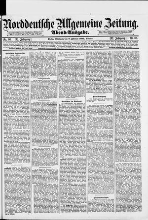 Norddeutsche allgemeine Zeitung vom 08.02.1893