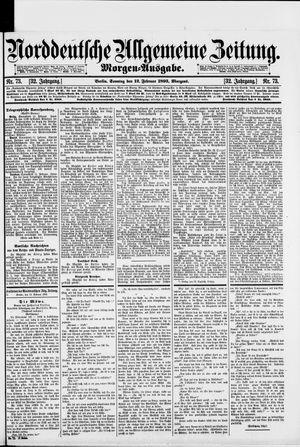 Norddeutsche allgemeine Zeitung vom 12.02.1893
