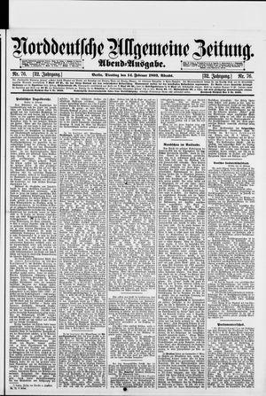 Norddeutsche allgemeine Zeitung vom 14.02.1893