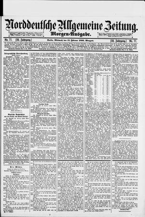 Norddeutsche allgemeine Zeitung vom 15.02.1893