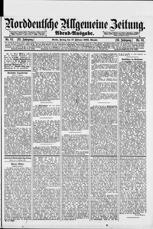 Norddeutsche allgemeine Zeitung vom 17.02.1893