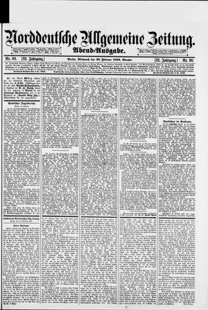 Norddeutsche allgemeine Zeitung vom 22.02.1893