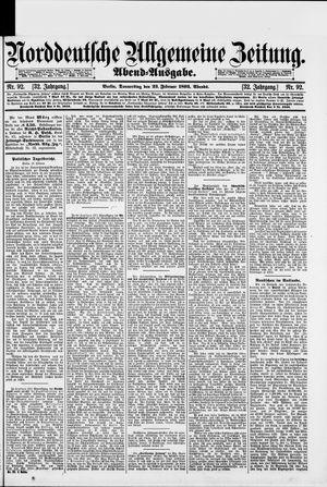 Norddeutsche allgemeine Zeitung vom 23.02.1893