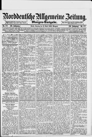 Norddeutsche allgemeine Zeitung vom 16.04.1893