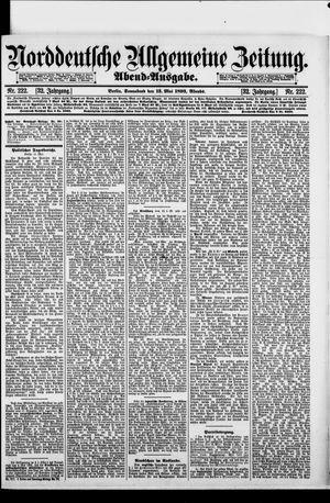 Norddeutsche allgemeine Zeitung on May 13, 1893