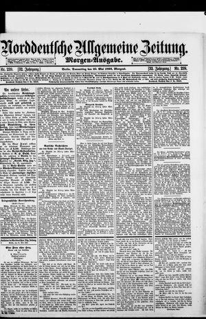Norddeutsche allgemeine Zeitung vom 25.05.1893