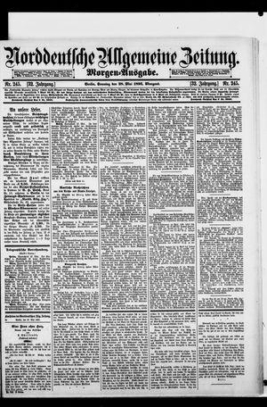 Norddeutsche allgemeine Zeitung vom 28.05.1893