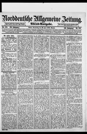 Norddeutsche allgemeine Zeitung on Jun 22, 1893