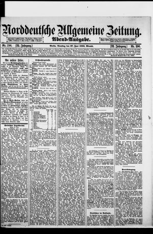 Norddeutsche allgemeine Zeitung vom 27.06.1893