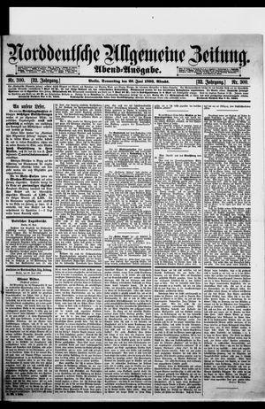 Norddeutsche allgemeine Zeitung vom 29.06.1893