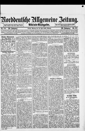 Norddeutsche allgemeine Zeitung vom 10.07.1893