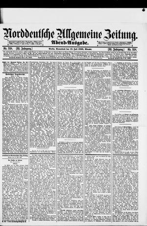 Norddeutsche allgemeine Zeitung vom 15.07.1893