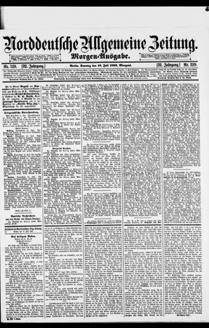 Norddeutsche allgemeine Zeitung vom 16.07.1893
