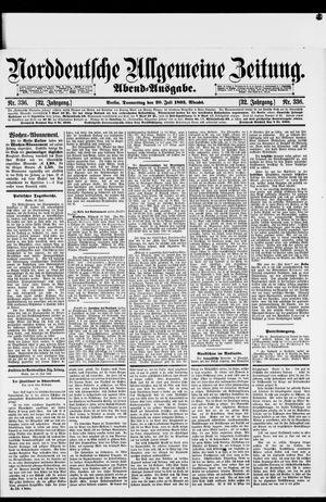 Norddeutsche allgemeine Zeitung vom 20.07.1893