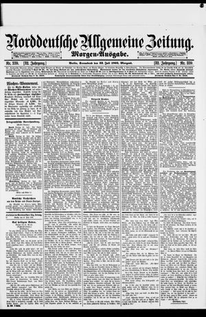 Norddeutsche allgemeine Zeitung vom 22.07.1893
