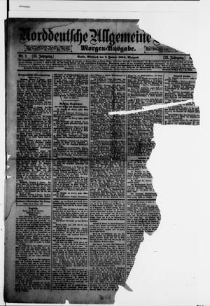 Norddeutsche allgemeine Zeitung vom 03.01.1894