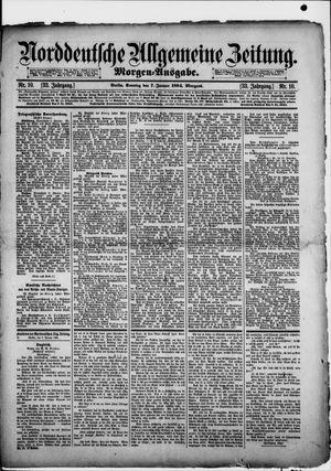 Norddeutsche allgemeine Zeitung vom 07.01.1894