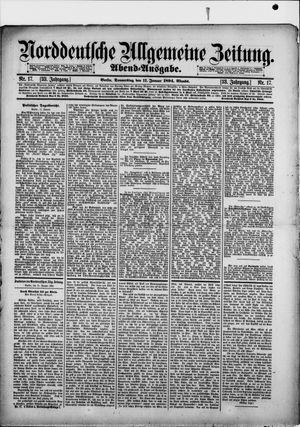 Norddeutsche allgemeine Zeitung vom 11.01.1894