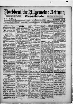 Norddeutsche allgemeine Zeitung vom 13.01.1894