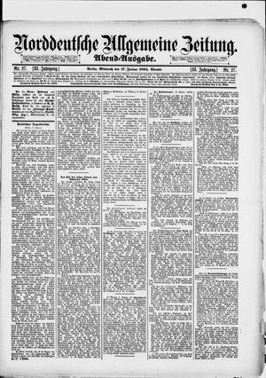 Norddeutsche allgemeine Zeitung vom 17.01.1894