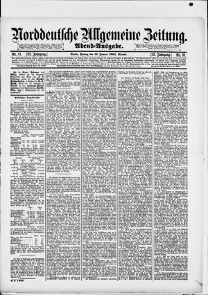 Norddeutsche allgemeine Zeitung vom 19.01.1894
