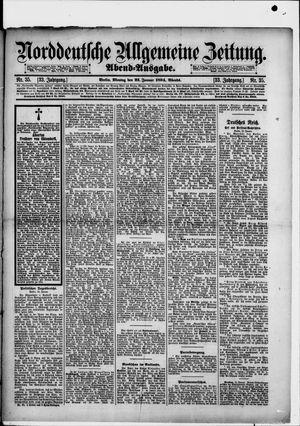 Norddeutsche allgemeine Zeitung vom 22.01.1894