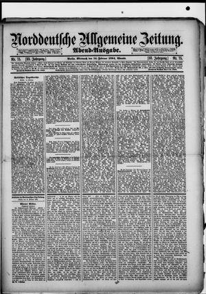 Norddeutsche allgemeine Zeitung vom 14.02.1894
