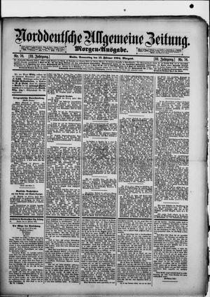 Norddeutsche allgemeine Zeitung vom 15.02.1894