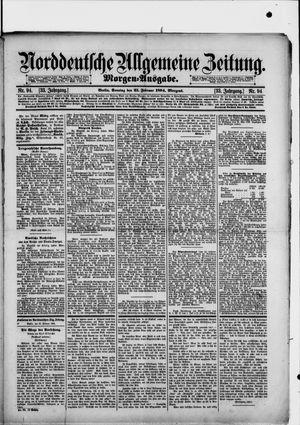 Norddeutsche allgemeine Zeitung vom 25.02.1894