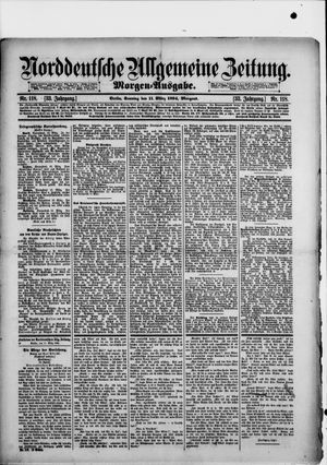 Norddeutsche allgemeine Zeitung vom 11.03.1894