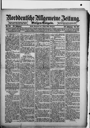 Norddeutsche allgemeine Zeitung vom 07.04.1894