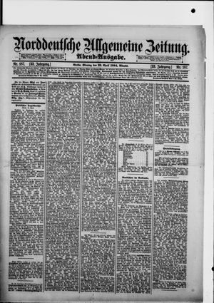 Norddeutsche allgemeine Zeitung vom 23.04.1894