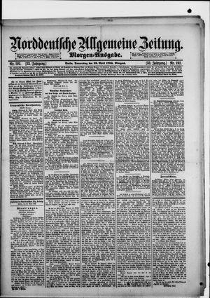 Norddeutsche allgemeine Zeitung vom 26.04.1894