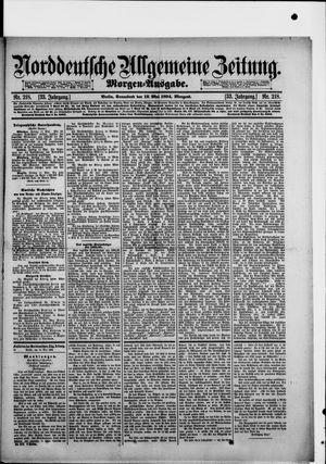 Norddeutsche allgemeine Zeitung on May 12, 1894