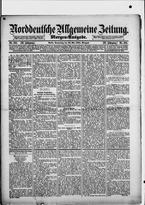 Norddeutsche allgemeine Zeitung vom 24.05.1894