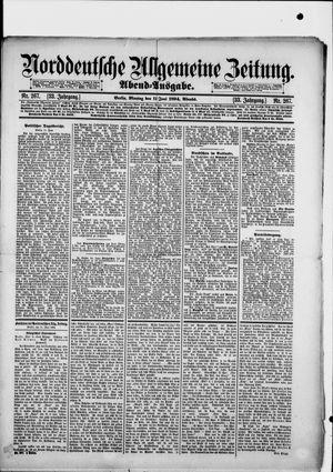 Norddeutsche allgemeine Zeitung vom 11.06.1894
