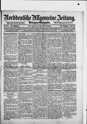 Norddeutsche allgemeine Zeitung vom 15.06.1894