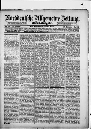 Norddeutsche allgemeine Zeitung vom 20.06.1894