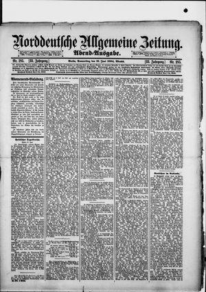 Norddeutsche allgemeine Zeitung vom 21.06.1894
