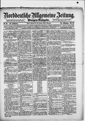 Norddeutsche allgemeine Zeitung vom 20.01.1895