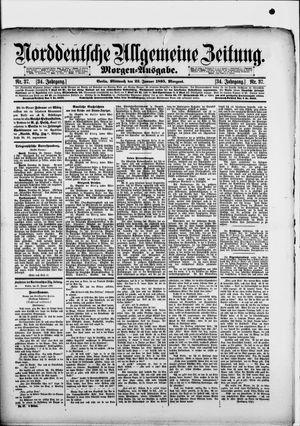 Norddeutsche allgemeine Zeitung on Jan 23, 1895