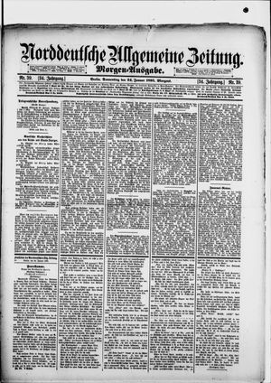Norddeutsche allgemeine Zeitung vom 24.01.1895