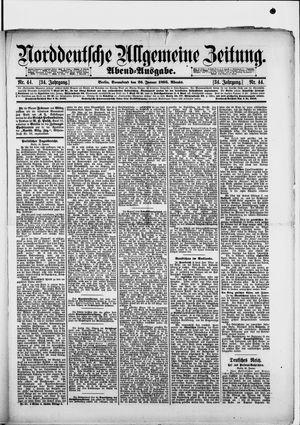 Norddeutsche allgemeine Zeitung vom 26.01.1895