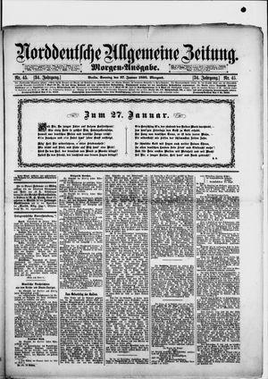 Norddeutsche allgemeine Zeitung vom 27.01.1895