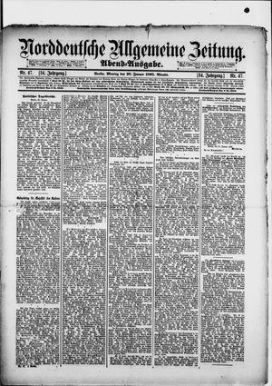 Norddeutsche allgemeine Zeitung vom 28.01.1895